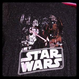 Star Wars youth M dark grey speckled Chewie tee